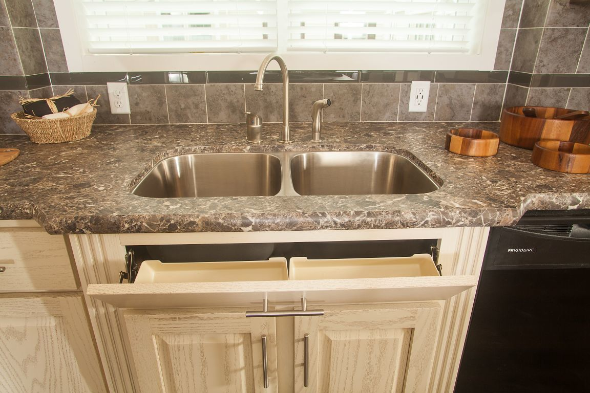 Tip-Out Tray at Kitchen Sink | Colony Homes