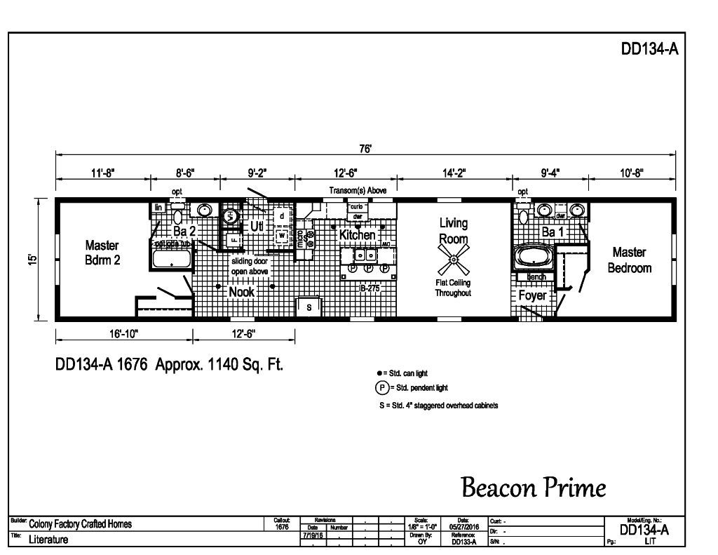 100 16x80 Mobile Home Floor Plans Exhilaration