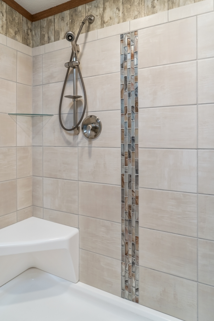 Corner Seat for Ceramic Tile Showers | Colony Homes
