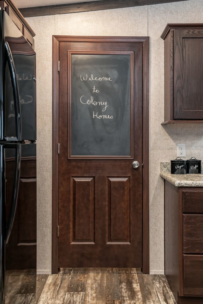 Chalkboard Accent On Interior Door Colony Homes
