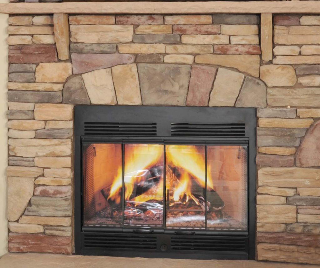 Half Stack Stone Fireplace Colony Homes