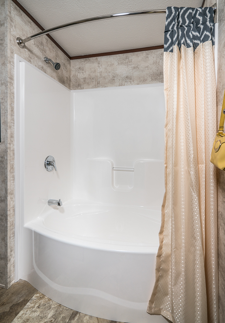 Curved Front Garden Tub Shower Colony, Garden Tub Shower