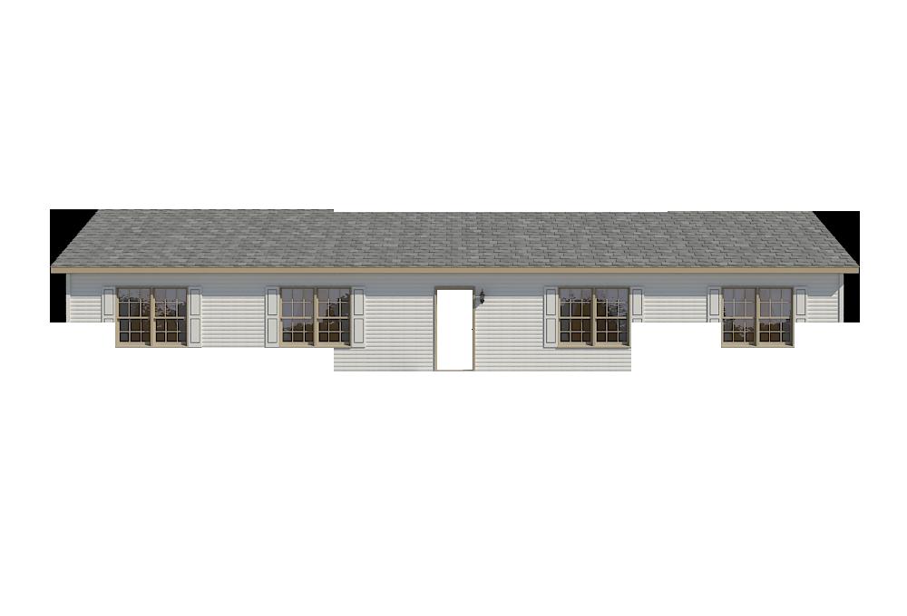 Clay Trim with Square Door