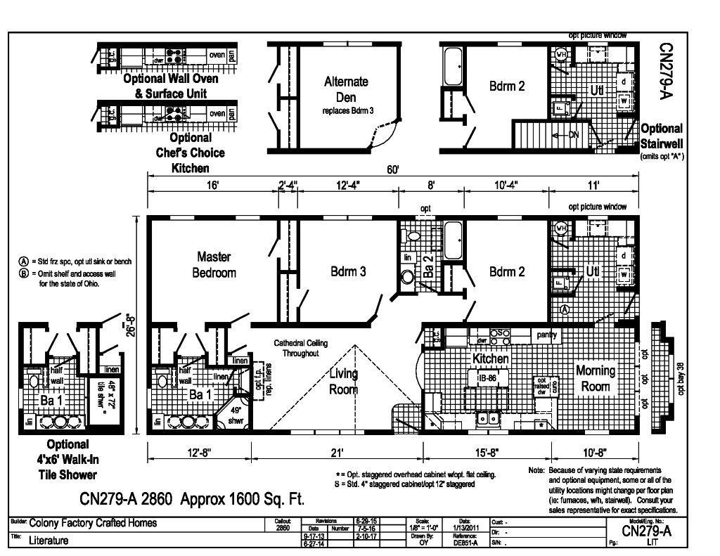 Cornerstone Homes Floor Plans Contemporary House Plan 1
